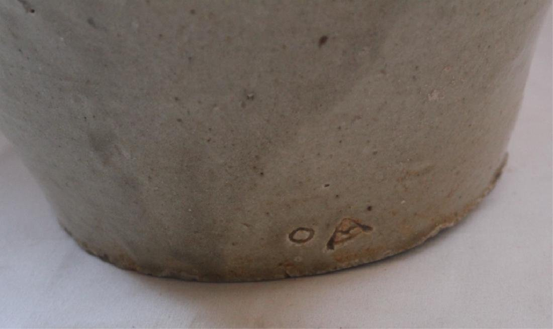 Early Southern Stoneware Signed Storage Jar - 4