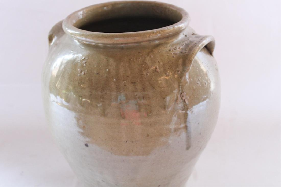 Early Southern Stoneware Signed Storage Jar - 5