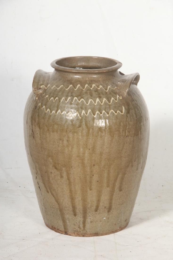 Southern Stoneware Decorated Storage Jar
