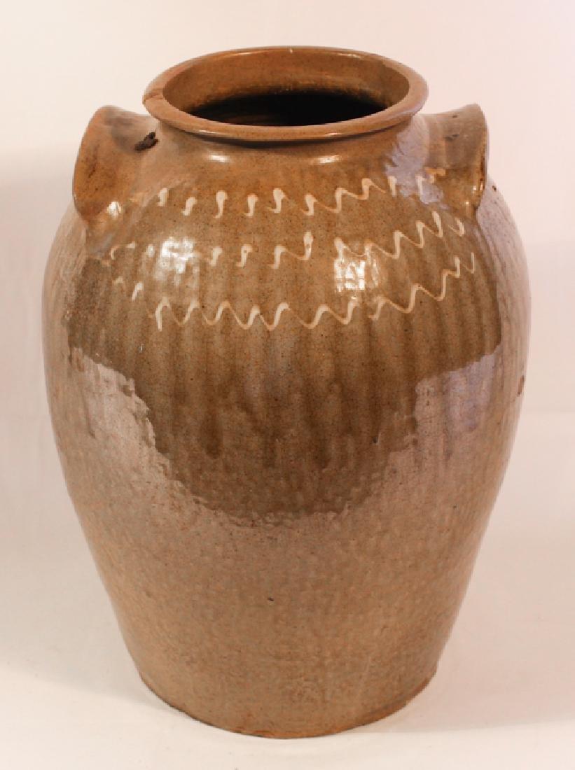 Southern Stoneware Decorated Storage Jar - 2