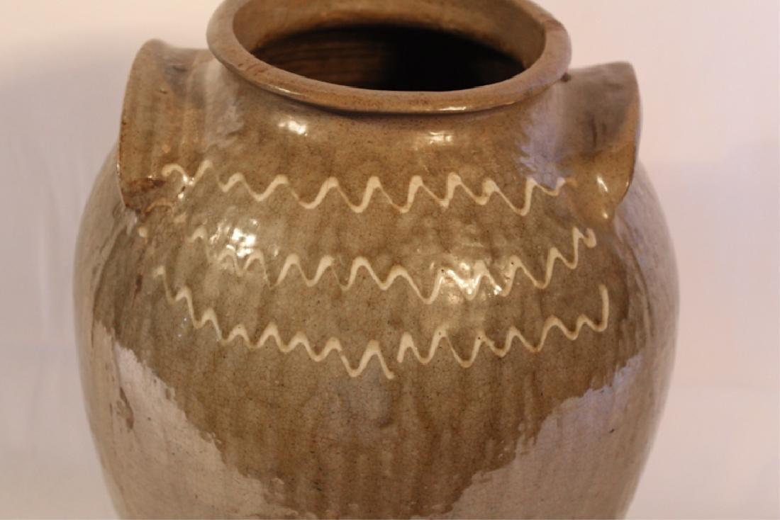 Southern Stoneware Decorated Storage Jar - 3