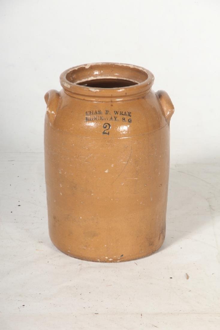 Very Rare Southern Stoneware Merchant Jar