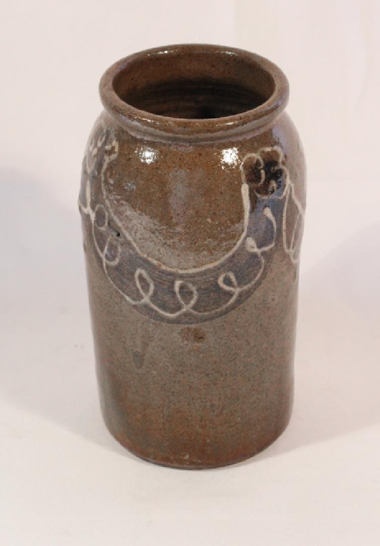 Quality Decorated Southern Stoneware Preserve Jar - 3