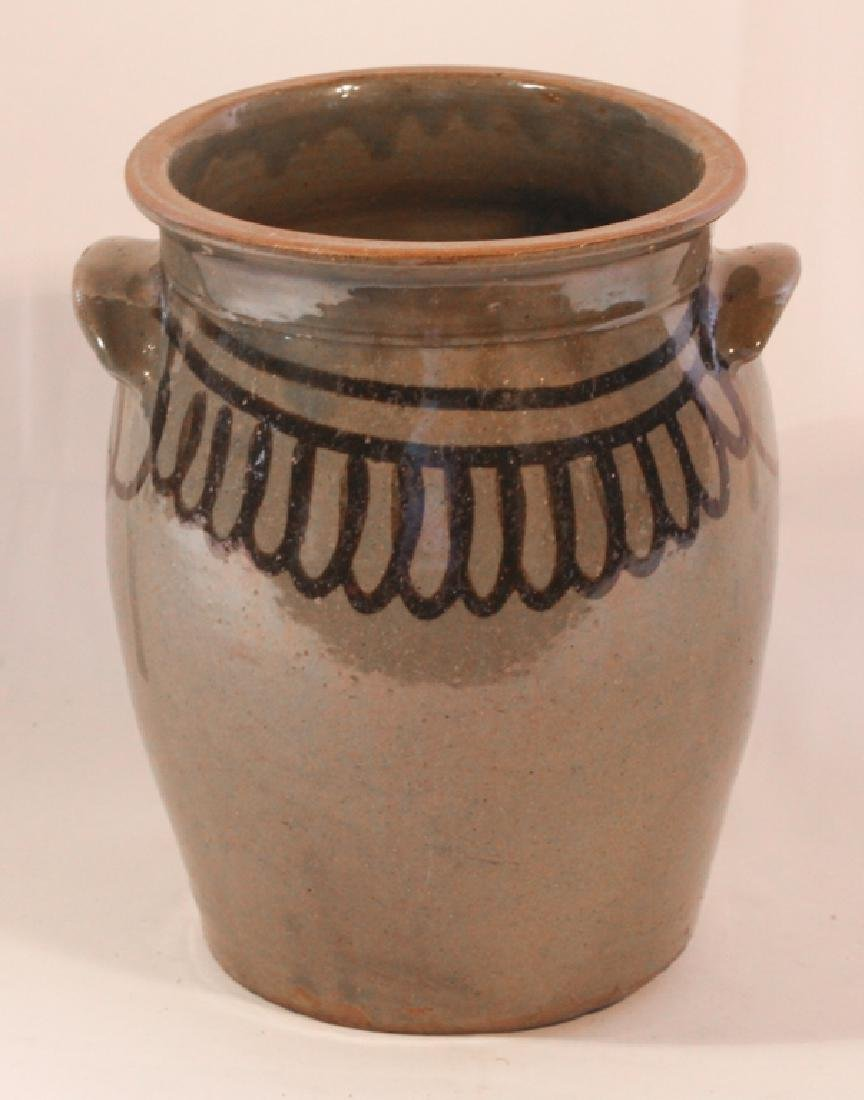 Excellent Southern Decorated Stoneware Storage Jar