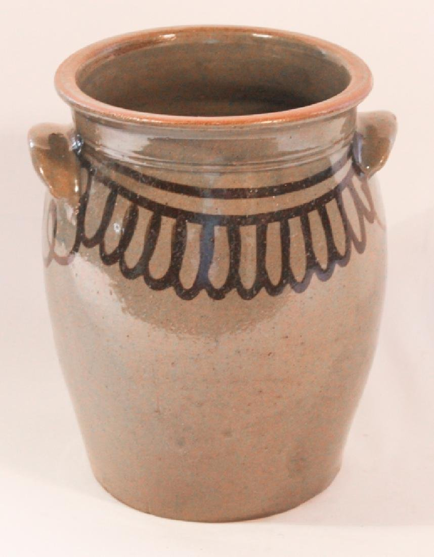 Excellent Southern Decorated Stoneware Storage Jar - 2
