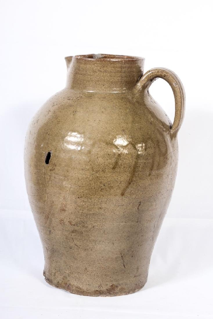 Early & Very Large Southern Stoneware Pitcher