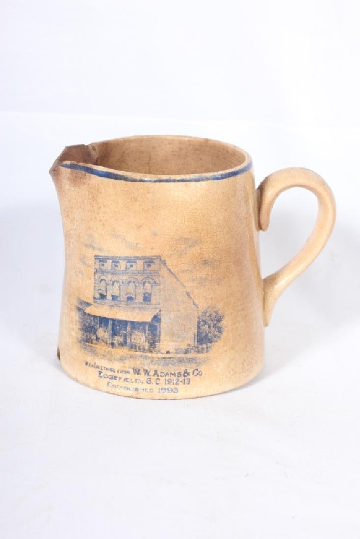 Rare SC Merchant Marked Porcelain Cream Pitcher