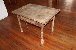 Period William and Mary Walnut and Pine Tavern Table
