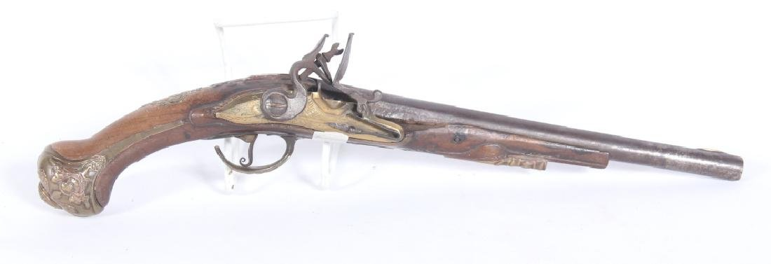 Early Antique Continental Flintlock Pistol