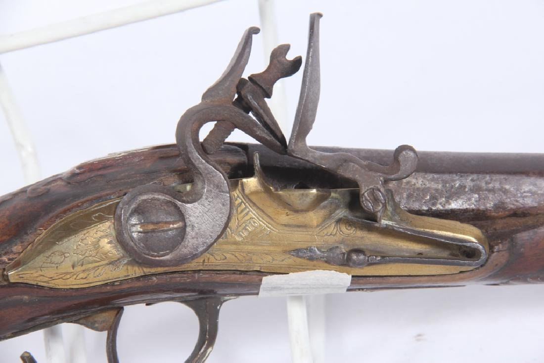 Early Antique Continental Flintlock Pistol - 2