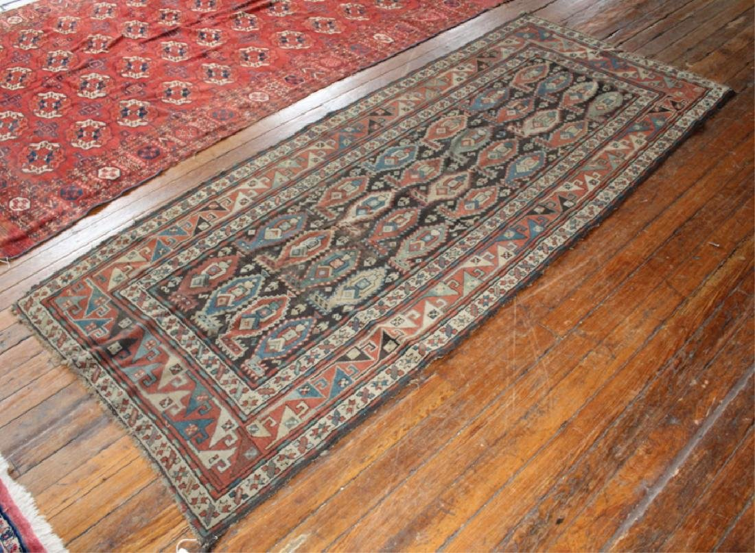 Vintage Persian Pictorial Tribal Carpet