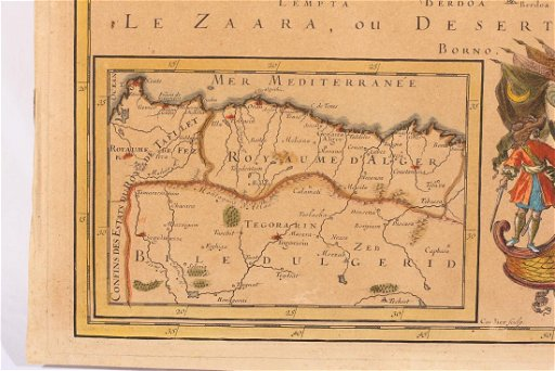 Map Of Upper Asia.French 1689 Map Of Europe Asia Africa