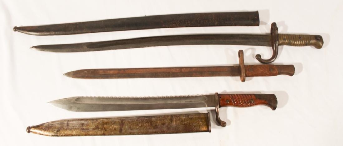 Collection Three Antique Bayonets