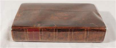 Early Antique Leather Bound Volume