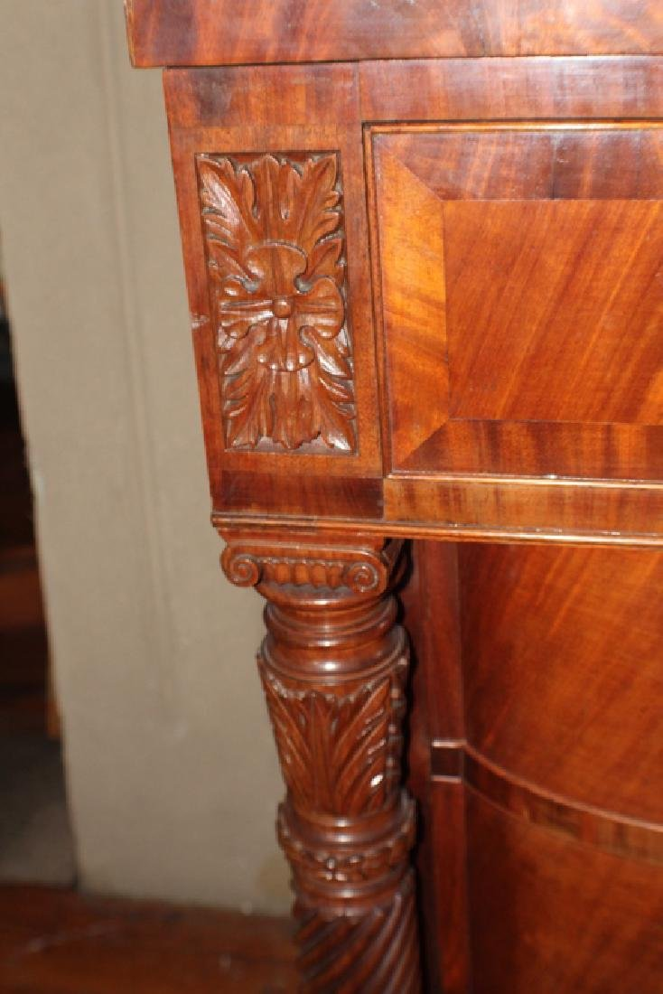Pair American Classical Carved Mahogany Chests - 2