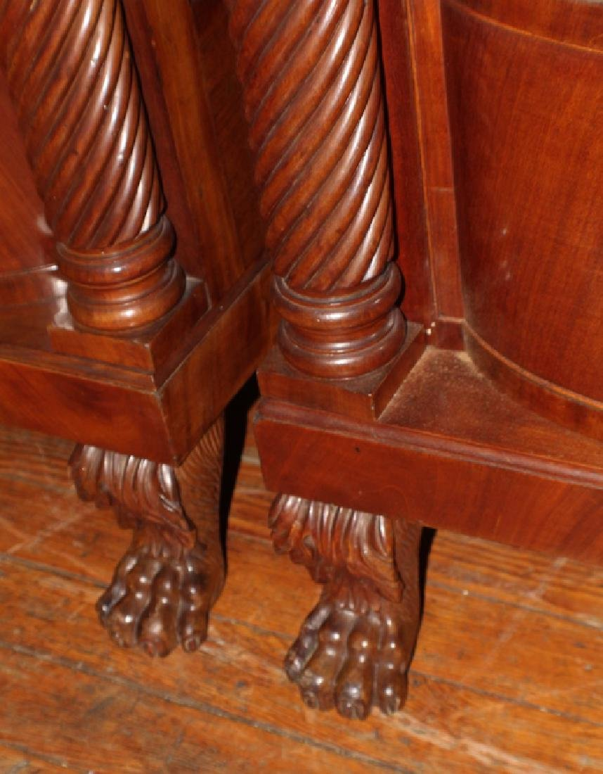 Pair American Classical Carved Mahogany Chests - 4