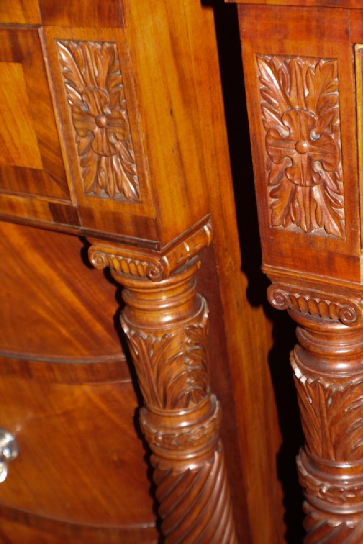 Pair American Classical Carved Mahogany Chests - 5