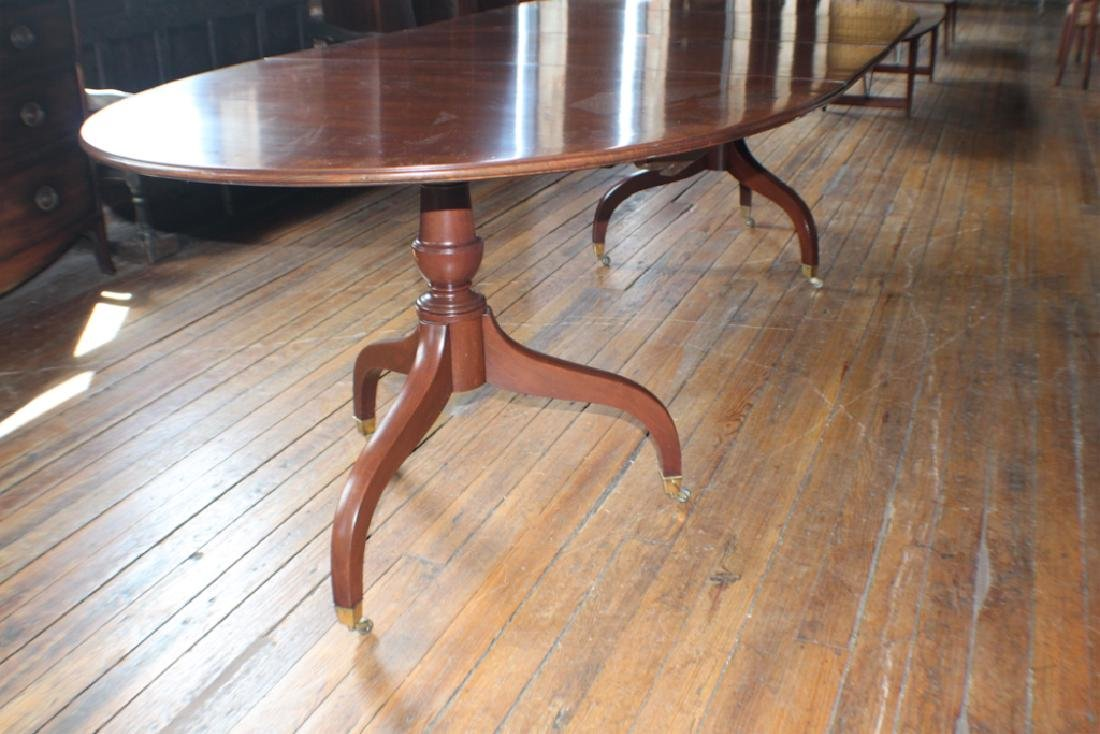 Federal Style Inlaid Mahogany Dining Table - 2