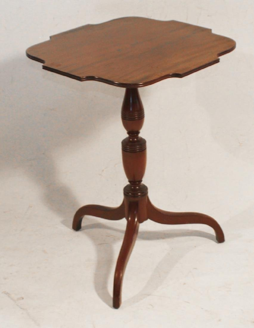 Bench Made Federal Style Tilt Top Candle Stand