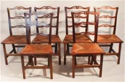 Set Six British George III Mahogany Dining Chairs