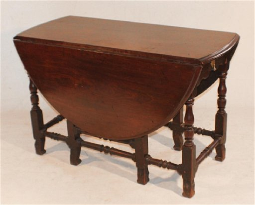 American William Mary Drop Gate Leg Dining Table