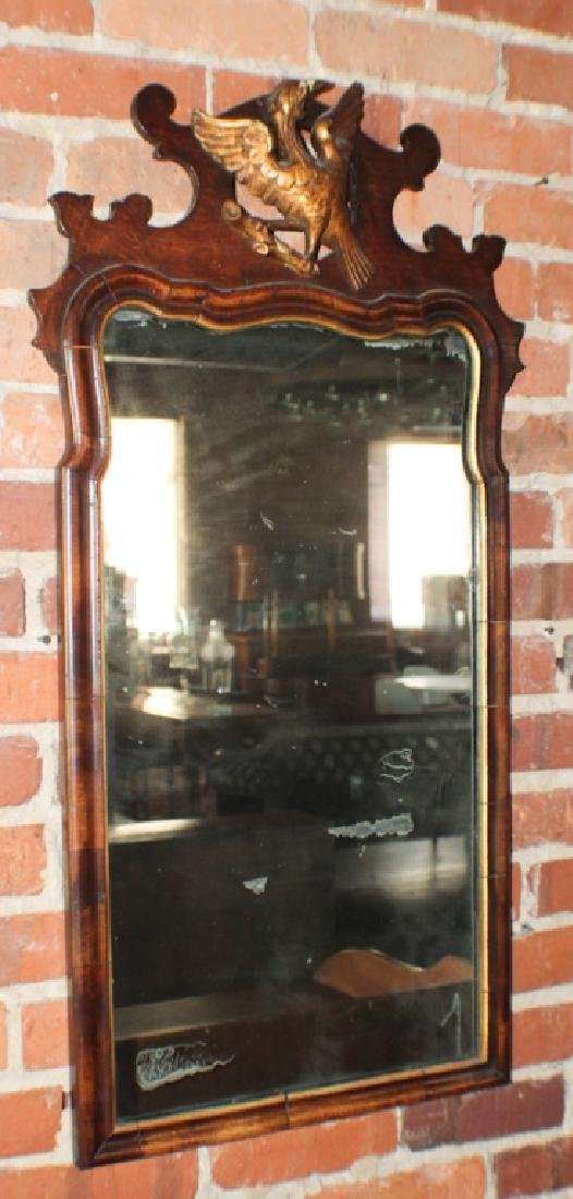 Handsome Queen Anne Carved & Gilt Mahogany Mirror