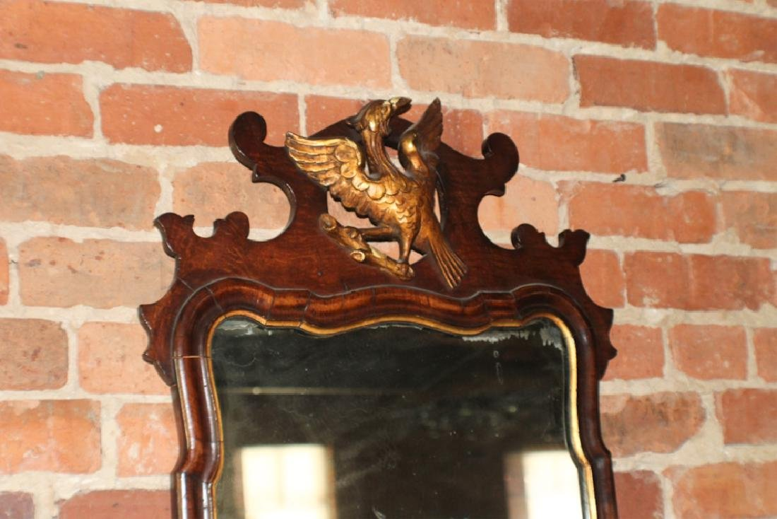 Handsome Queen Anne Carved & Gilt Mahogany Mirror - 3