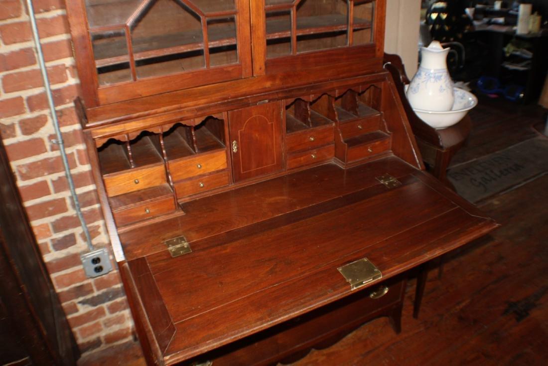 Southern Federal Walnut Secretary Bookcase - 9