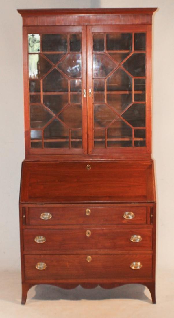 Southern Federal Walnut Secretary Bookcase