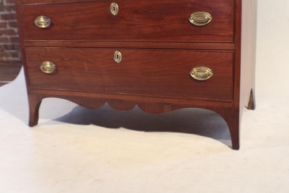 Southern Federal Walnut Secretary Bookcase - 3