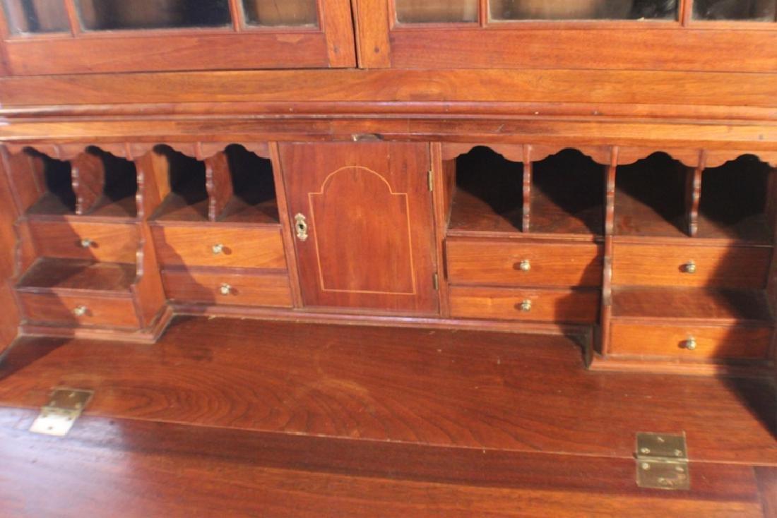 Southern Federal Walnut Secretary Bookcase - 6
