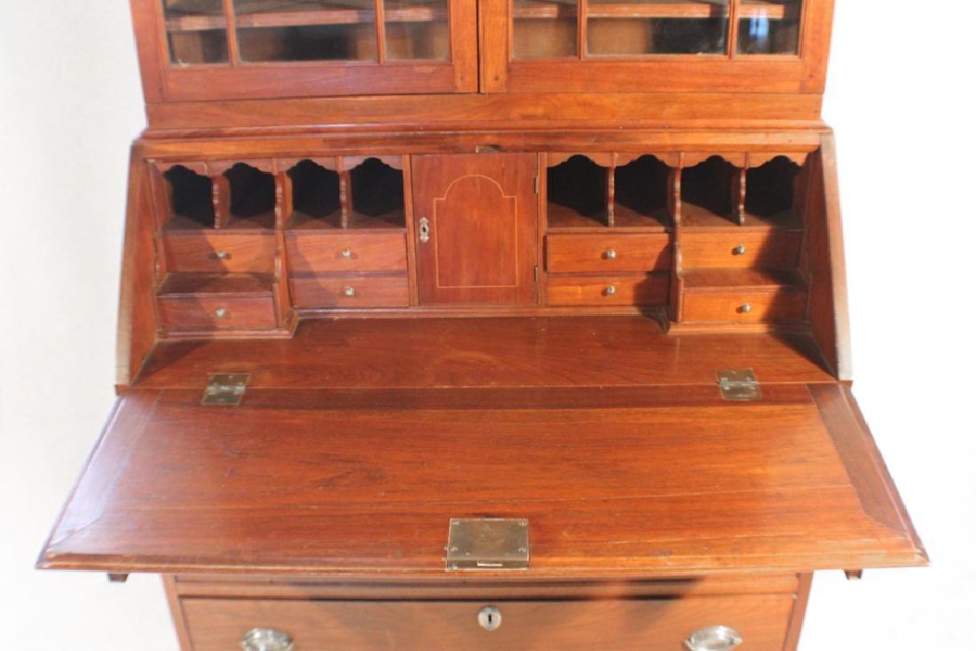 Southern Federal Walnut Secretary Bookcase - 7