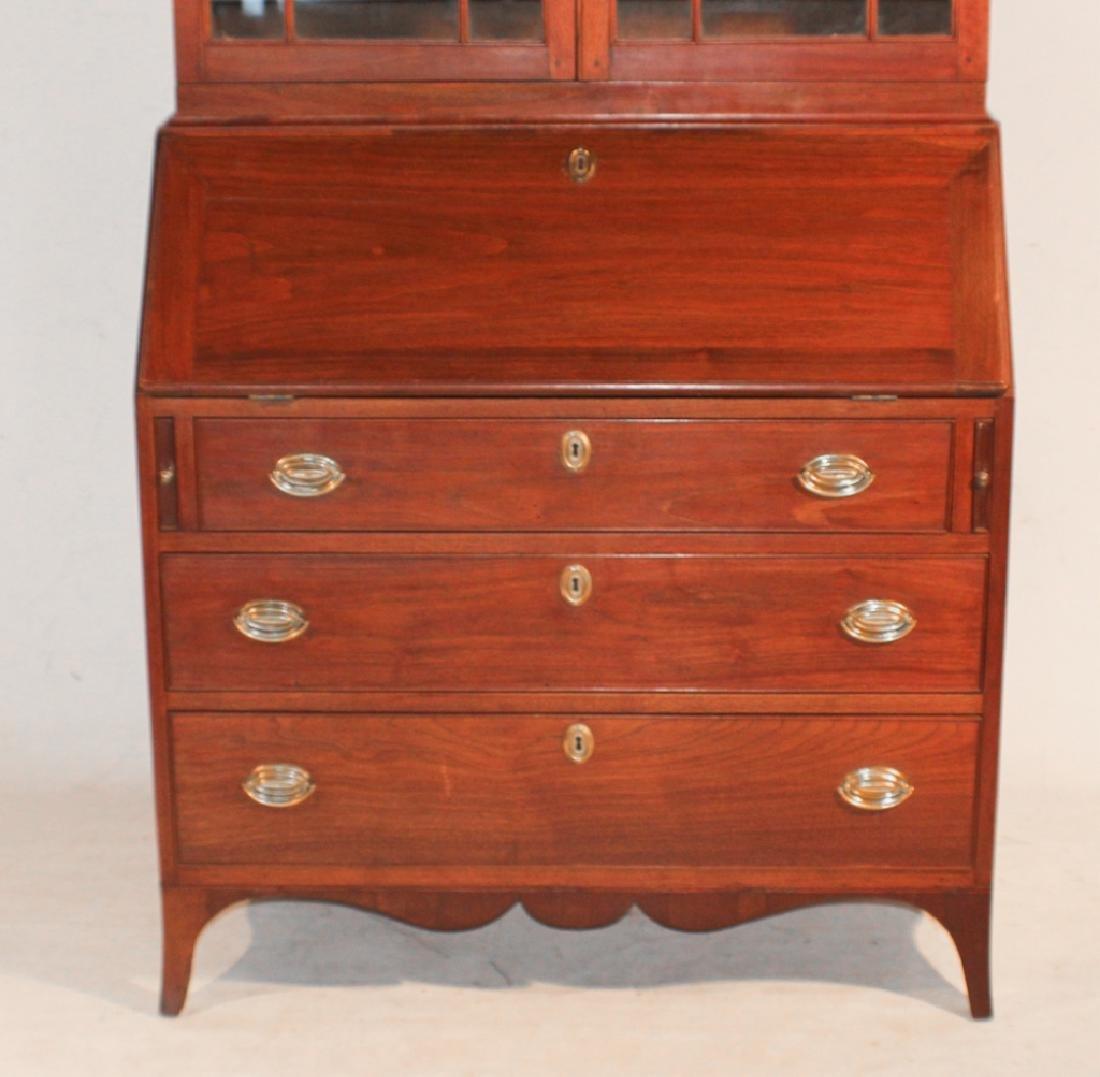 Southern Federal Walnut Secretary Bookcase - 8