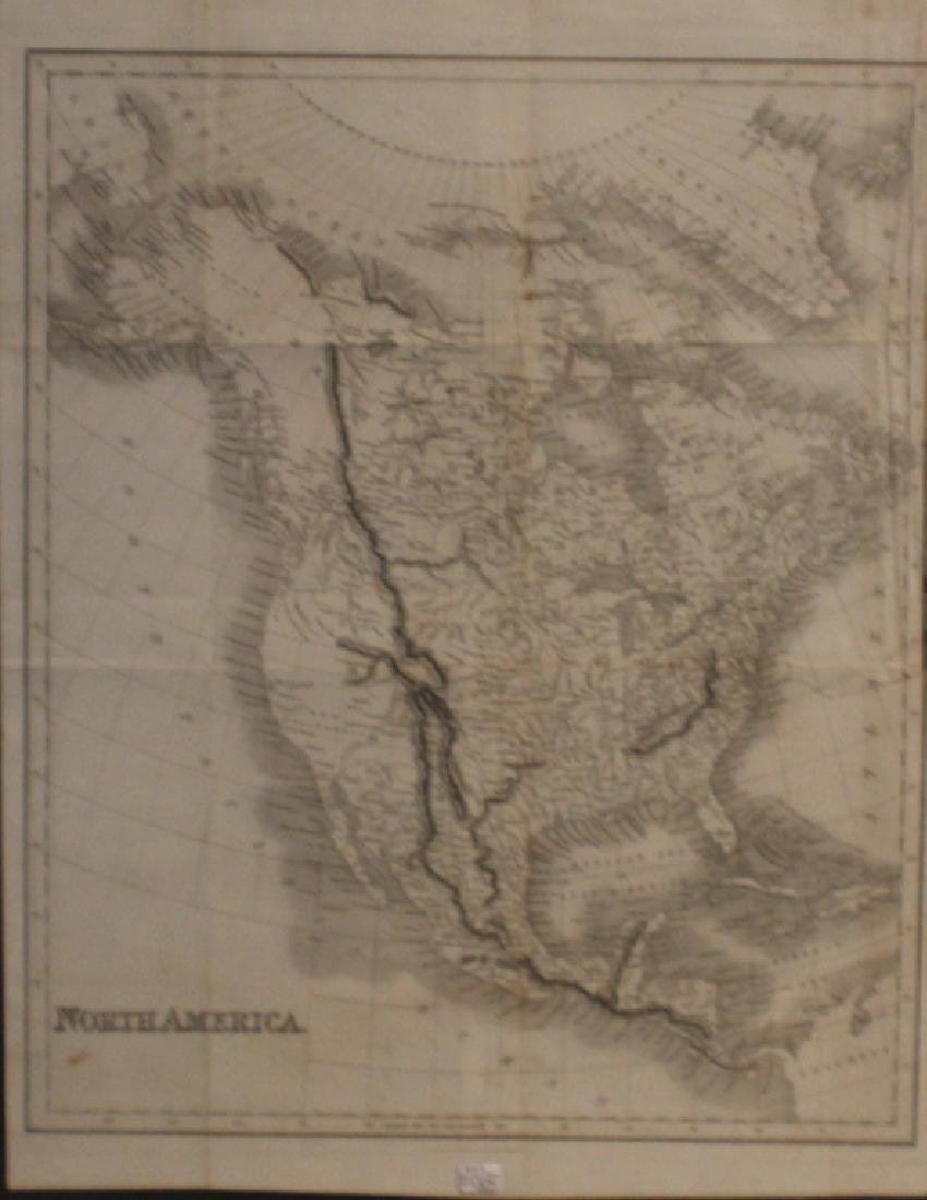Fenner Sears & Co 1832 Map of North America