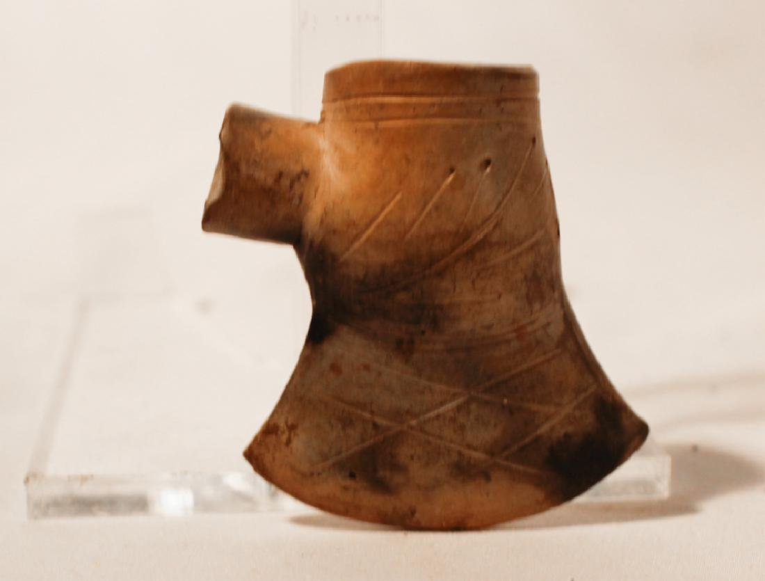 Southern Native American Pottery Pipe