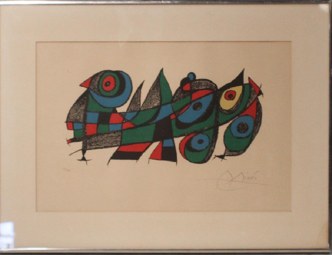 Period Joan Miro Pencil Signed Lithograph