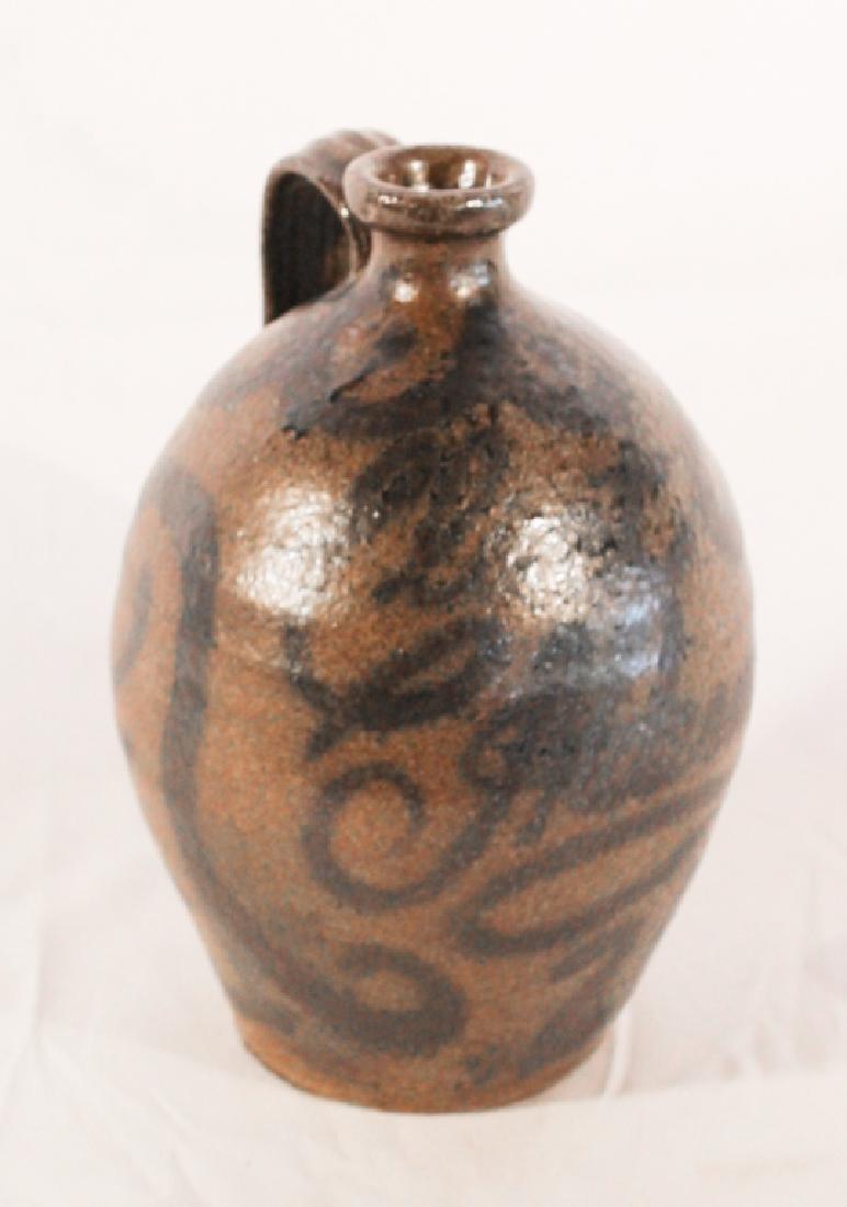 Southern Decorated Stoneware Jug, Clint Alderman