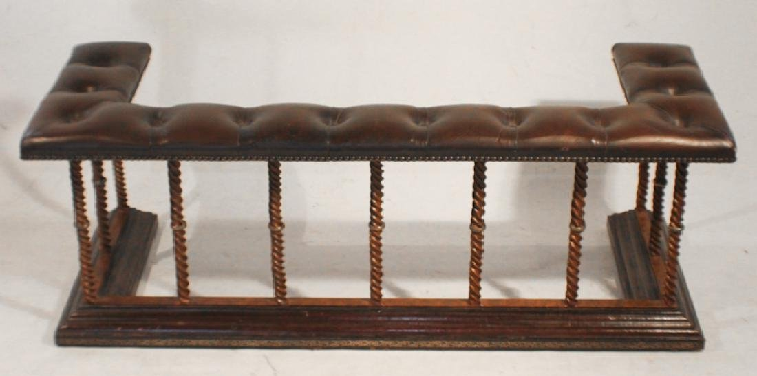 Vintage Club Style Leather Fire Fender Seat