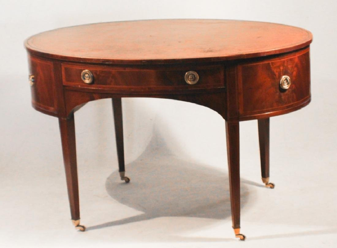 Early Baker Federal Style Inlaid Mahogany Desk