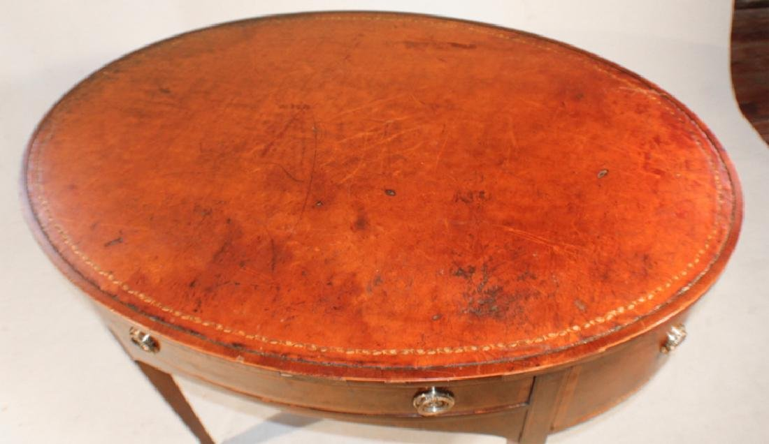 Early Baker Federal Style Inlaid Mahogany Desk - 2