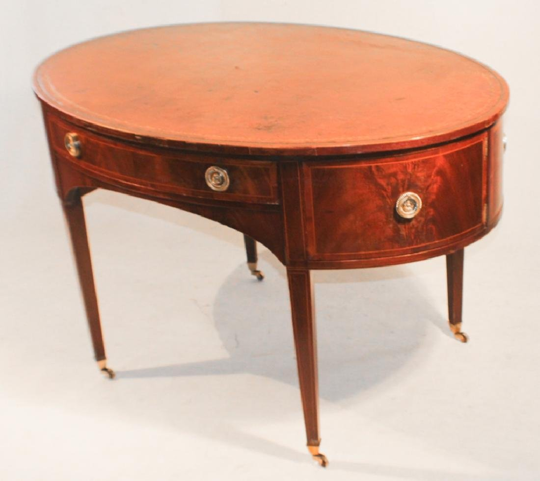 Early Baker Federal Style Inlaid Mahogany Desk - 4