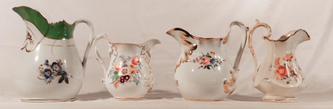 Old Paris Porcelain Hand Painted Pitchers