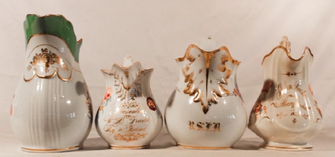 Old Paris Porcelain Hand Painted Pitchers - 2
