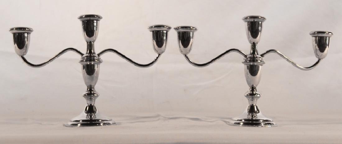 Empire Weighted Sterling Silver Candelabra