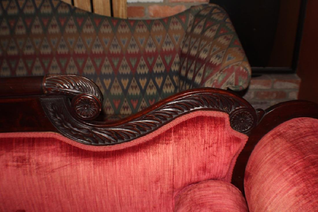 Quality American Classical Carved Mahogany Sofa - 3