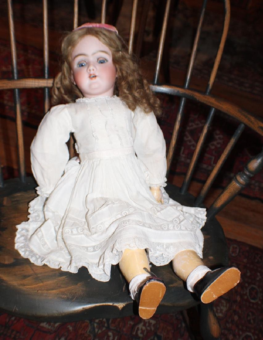 German Bisque Porcelain Doll With Dress & Clothing