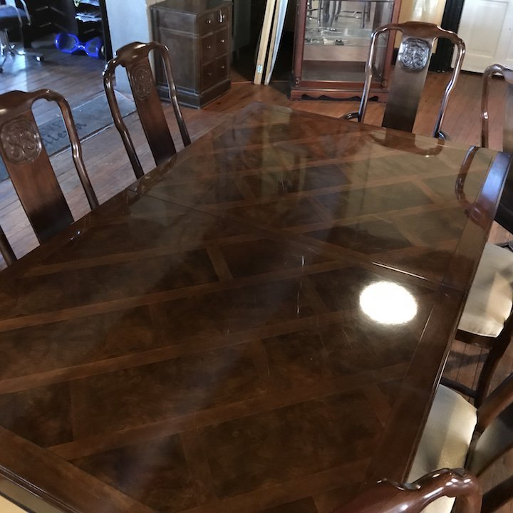 Mid Century Asian Style Dining Table and Chairs Drexel - 3