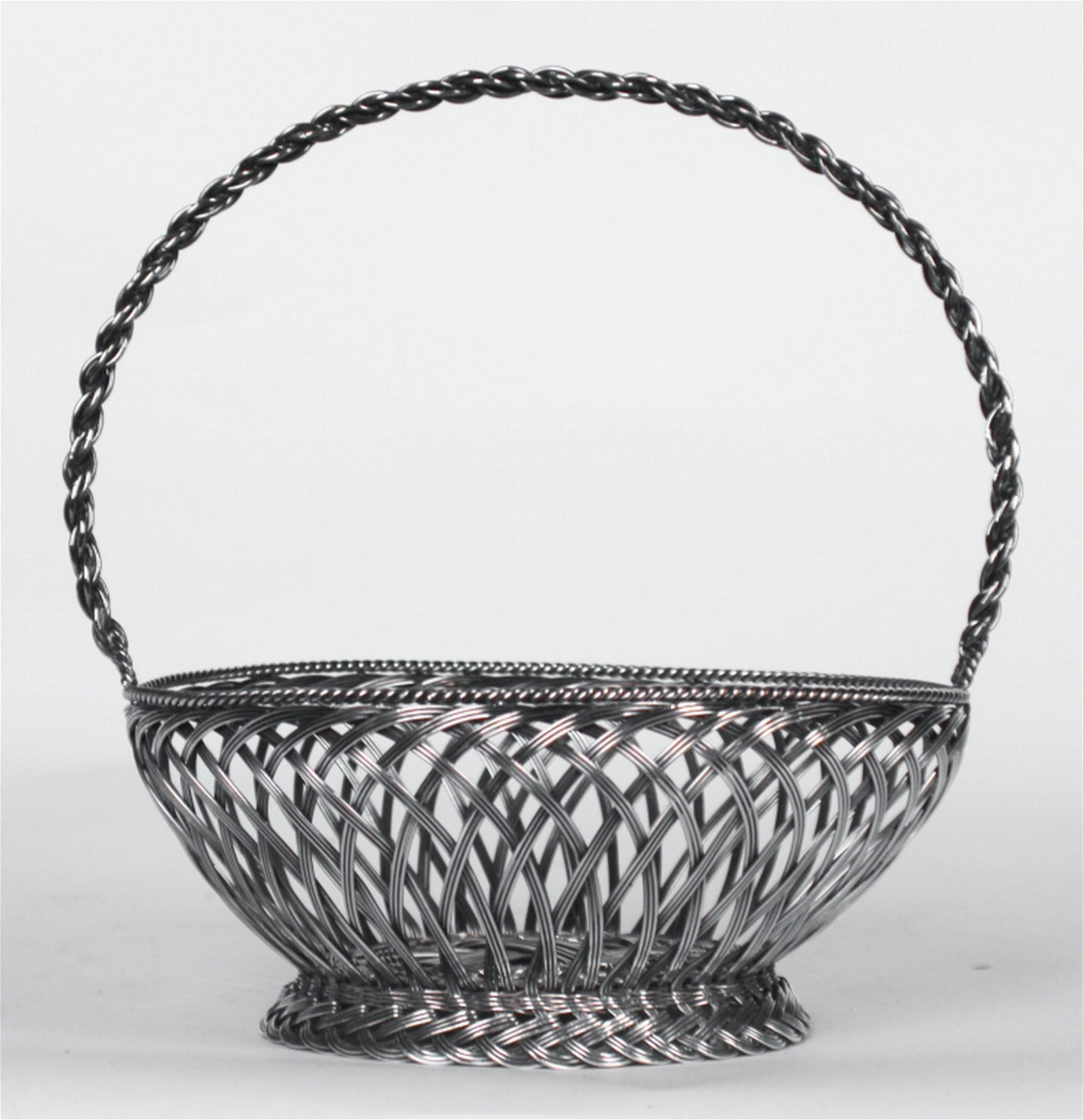 Vintage Tiffany & Company Sterling Woven Basket