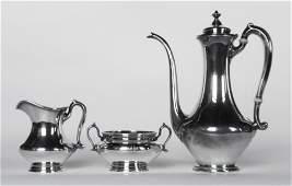 Vintage Deco American Sterling Silver Tea Service