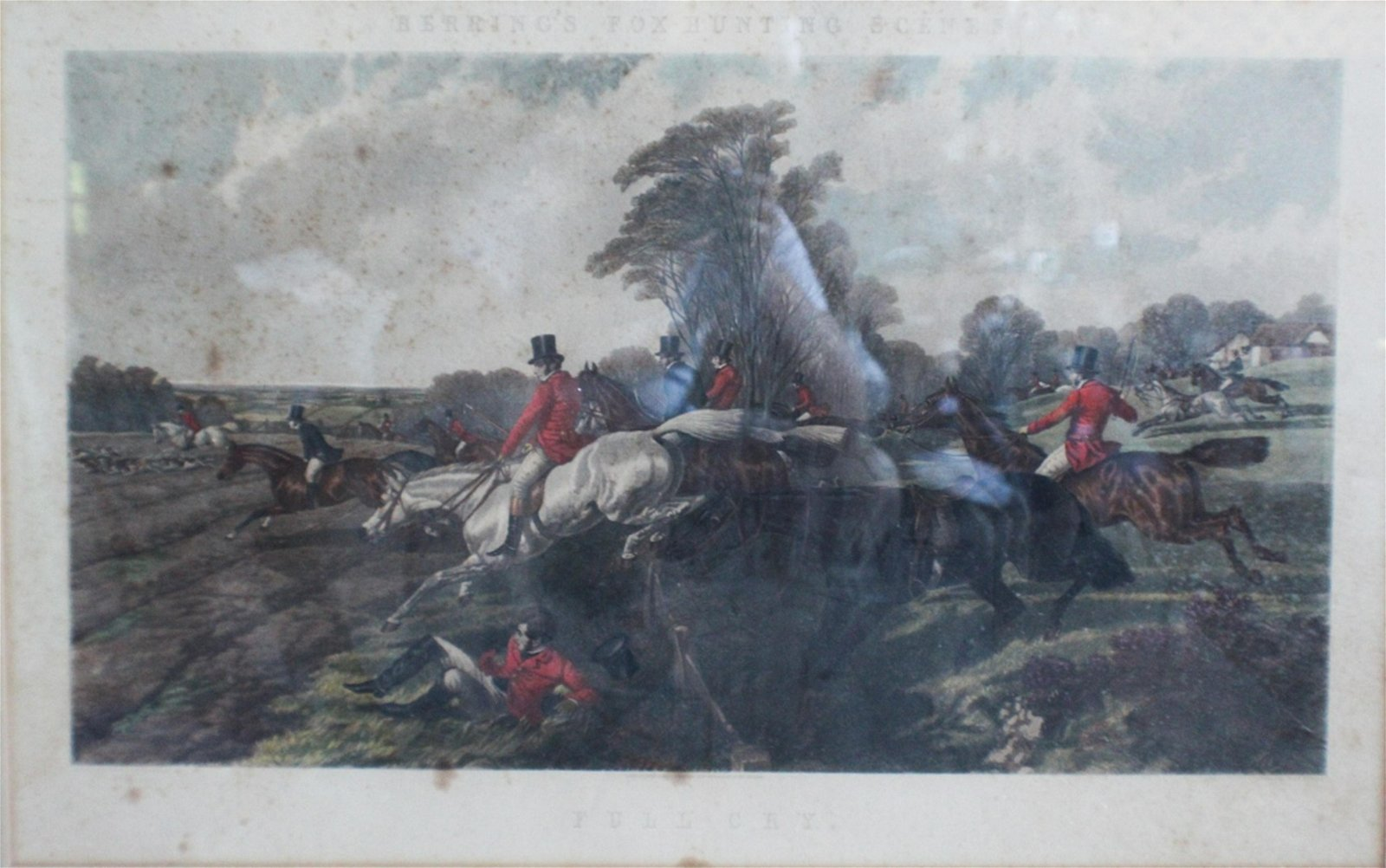 English Sporting Hand Colored Engraving by Harris
